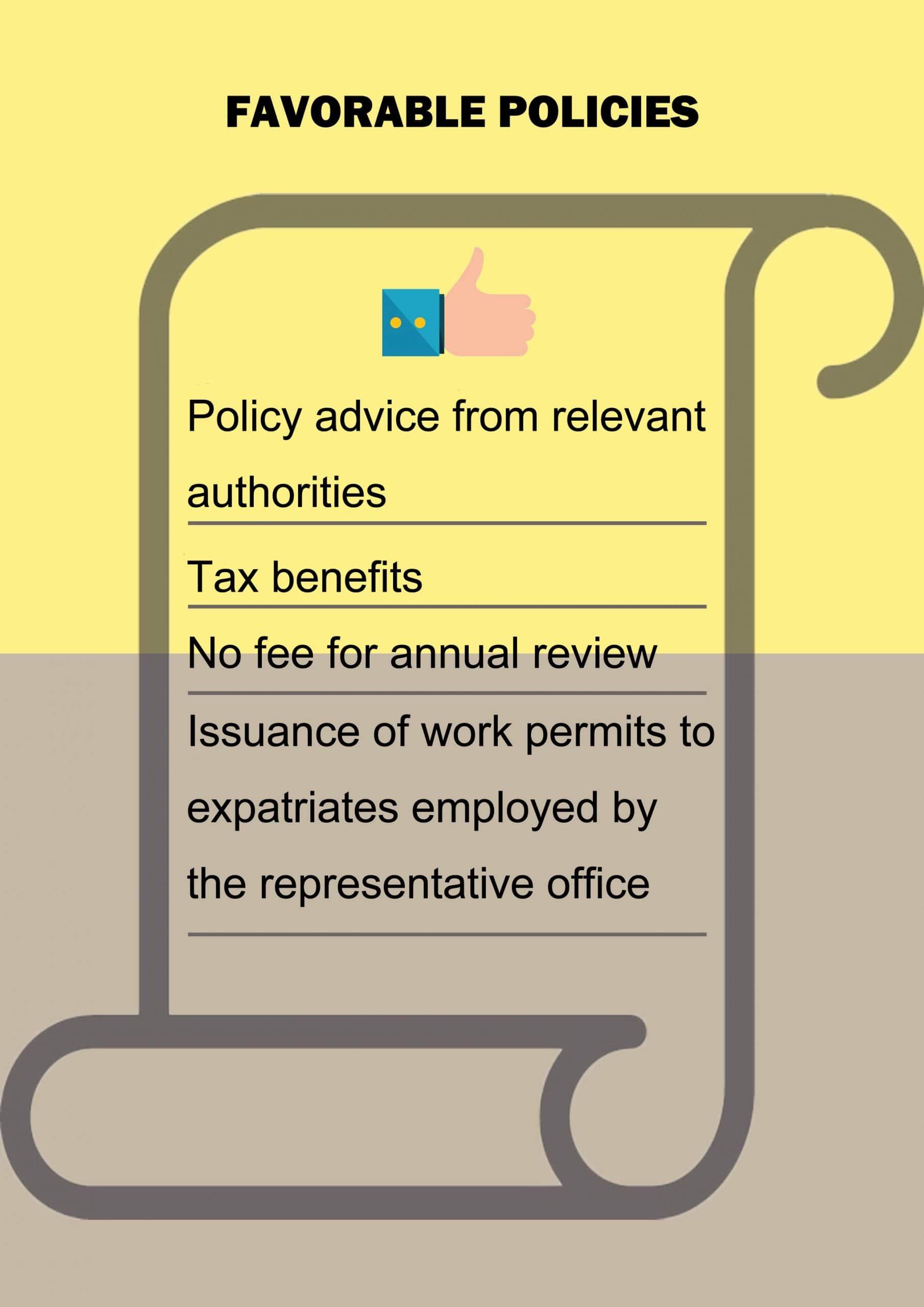 3 favorable policies