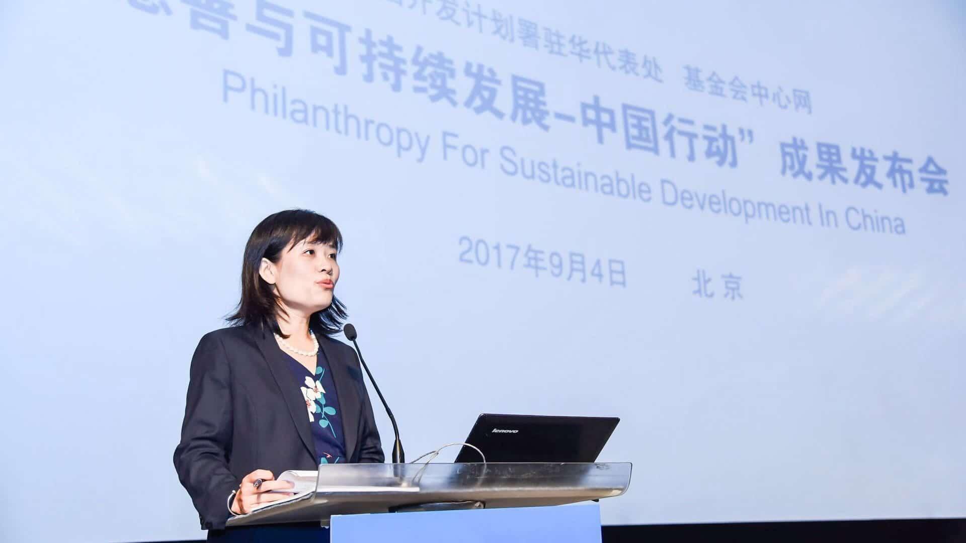 Gu Qing from UNDP